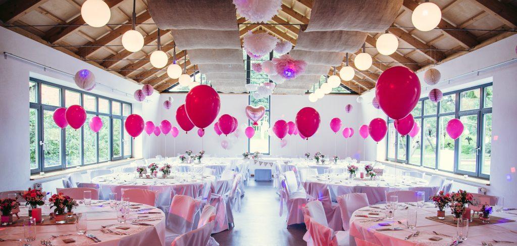 Hochzeitsdekoration rosa